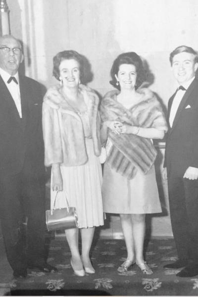 Jack Whiteside, Miss Florence Newbegin, Mavis Whiteside, Michael Conway